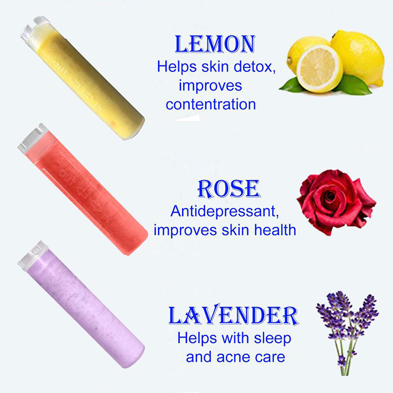 ZhangJi Handhold Lemon Rose Lavender Cartridge Filter Aroma Scent Filter Replacement Shower Head Water Saving Skin Care Shower