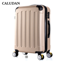 78caec12e CALUDAN nueva moda coreana ABS + PC Carro de equipaje rodante hombres bolsa  de viaje 20 pulgadas caja de embarque mujeres maleta.