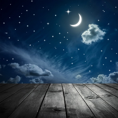 HUAYI 8x8ft Art fabric Beautiful Night Sky Backdrop Photography For Newborn Drop Background D-8189