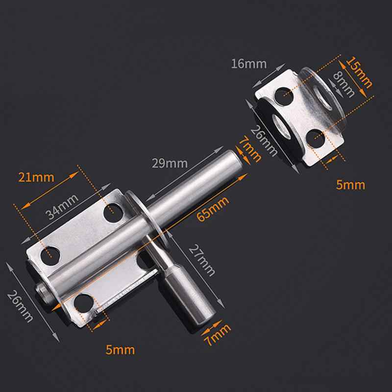 Stainless Steel Safety Door Bolts Latches Anti-Theft Lock Buckle Thickened Stainless Steel Bedroom Door and Window Latch