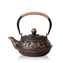Authentische Japanische Gusseisen Teekanne Tetsubin Wasserkocher 900 ml Drink Werkzeuge Kung Fu Teesiebe Edelstahl Sieb