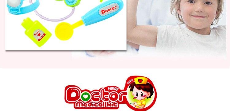 Kit médico de simulação para crianças, brinquedo educacional