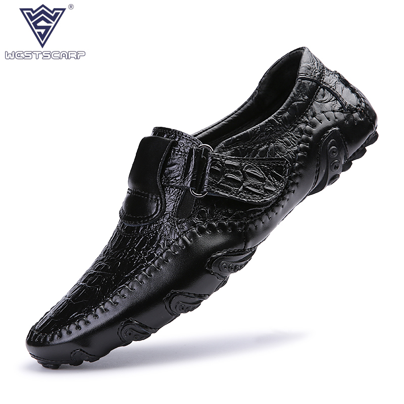 Men Shoes Casual Cow Slip Leather Flats Shoes Men Summer Cool Loafers, Slip On Men Shoes Big Size 38-46