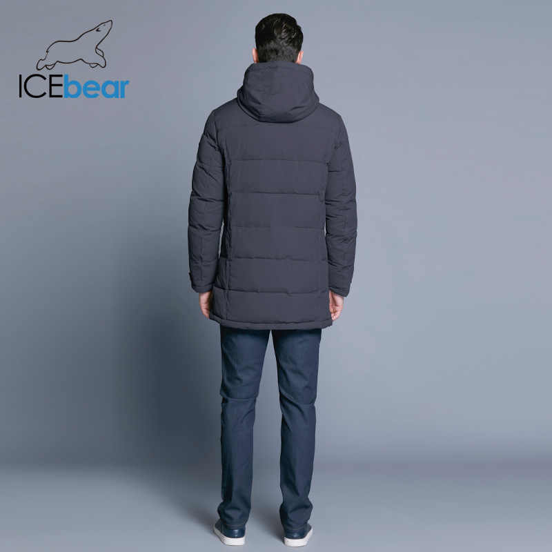 c5f04cafc7ed ... ICEbear 2018 Soft Fabric Winter Men s Jacket Thickening Casual Cotton  Jackets Winter Mid-Long Parka ...