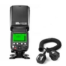PIXEL X800N Wireless flash Speedlite E-TTL HSS Flash Light Lamp + 1.8m TTL FLASH Cord Cable
