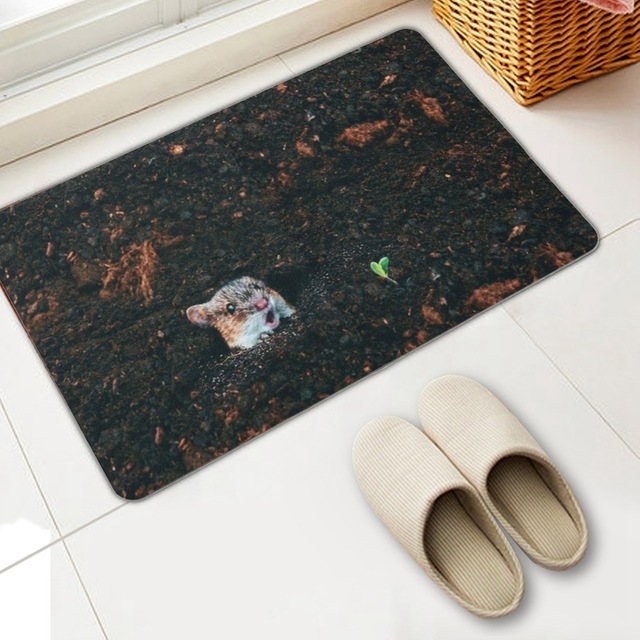 Hot Printed Waterproof Bathroom Rug Kit Non Slip Bath Mats Floor Carpet Ped Pad