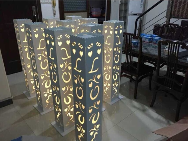 6pcs/lot Luxury Wedding Carved Pillar column Wedding Road Lead Stand With LED Light Built-In&Wedding Road Lead column