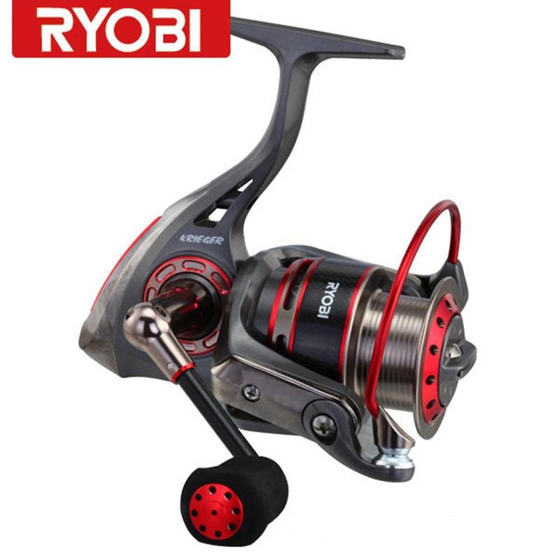100% RYOBI Reel KRIGER 7BB 5,1: 1/5. 0:1 getriebe Verhältnis Carretes Pesca Spinning Angeln Reel Moulinet Peche Karpfen Reel Fishing Tackle