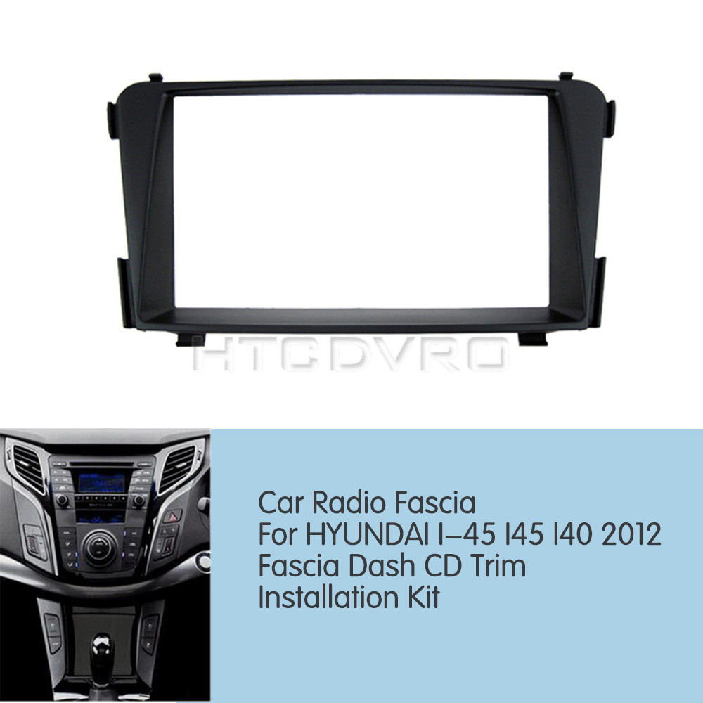 Car Radio Fascia Stereo frame facias for Hyundai i40 Install Dash Bezel Trim Kit