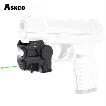 Askco 2in1 Compact Green Laser Sight With CREE LED Flashlight Integrated Combo for Tactical Pistol Rifle Weaver Picatinny Rail