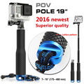 "Action Camera POV Pola 37"" Surfing Diving Extendable Go Pro Self selfie Stick Pole Monopod For GoPro HERO 5 4,3+SJCAM Xiaomi Yi"