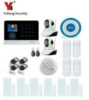 Yobang безопасности IOS/Android App WI FI gsm Беспроводной синий сирена безопасности ip камера сигнализация Системы Smart мини ПИР/ дверь открытой alarma