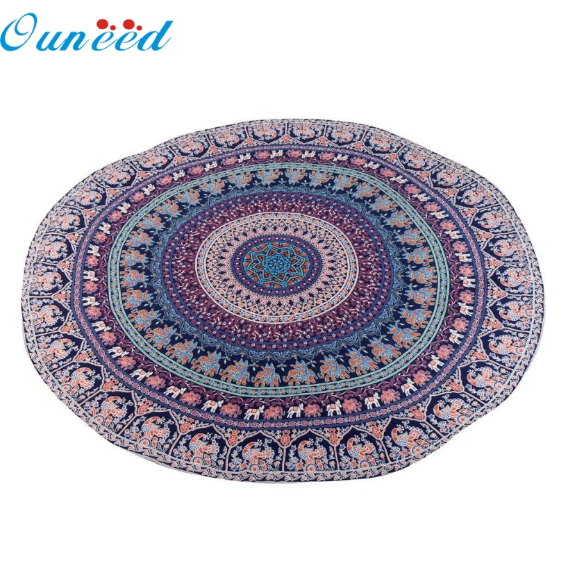 JA 5 Mosunx Business Hot Selling Fast Shipping Round Beach Pool Home Shower Towel Blanket Table Cloth Yoga Mat