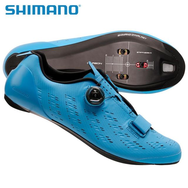 8ca1c3e8bb4 2018 New SHIMANO SH RP9 SPD SL Road Bike Shoes Riding Equipment Bicycle  Cycling Locking Shoes Road Racing MTB Blue