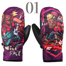 New design mitten gloves for sking hunting thermal snowboard gloves colorful ski gloves(China)