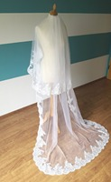 New Wedding Veils With Free Comb Different Length First Layer 75 Cm Two Layers Sequins Edge