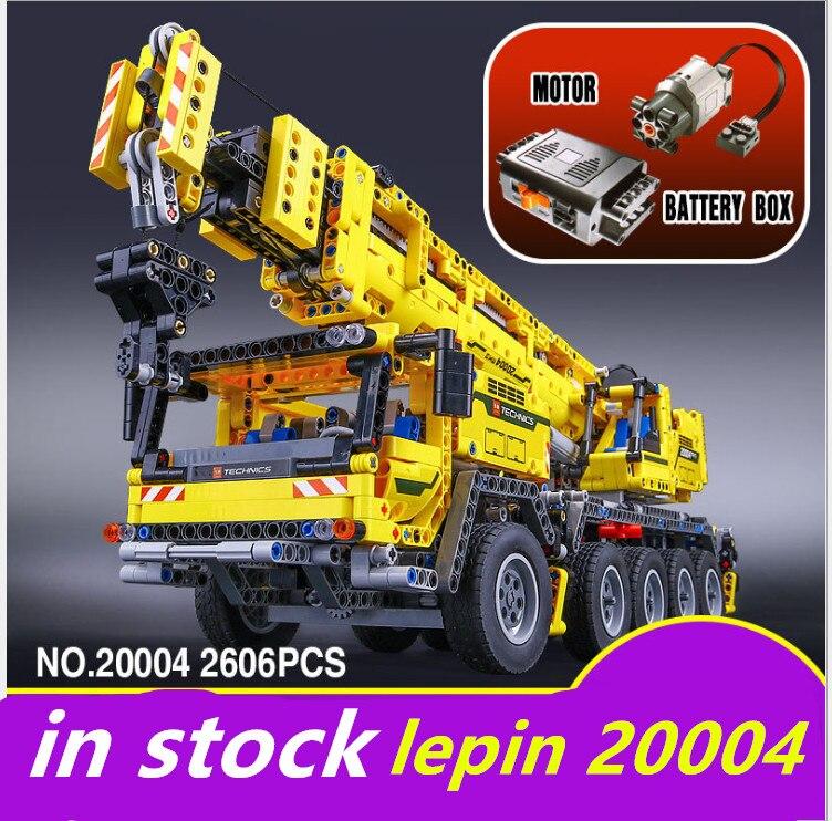 LEPIN 20004 lepin Technique Grue compatible legoing Technique Grue Mk II legoing 42009 Puissance Du Moteur Modèle Blocs de Construction Briques