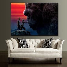 New 1 Piece Canvas HD Print Brie Larson And Tom Hiddleston Painting Cuadros Decoracion Wall Art  Movie Kong Skull Island Poster