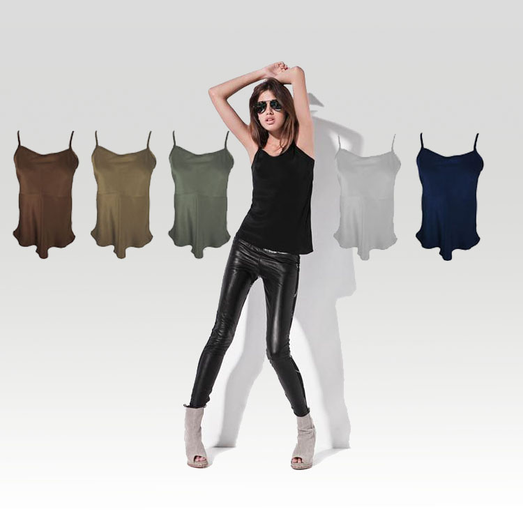 e3c036c1d4498 US $11.99 40% OFF|100% Silk Satin Camisole Pure Natural Silk China Silk  Factory Direct Women Tops Free Shipping Shinny Silk-in Camis from Women's  ...