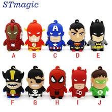 Stmagic Best подарок супергерой Мститель/Супермен/Бэтмен/Человек-паук флешки 4 г 8 г 16 г 32 г 64 г USB 2.0 USB Flash drivdriveck флешки