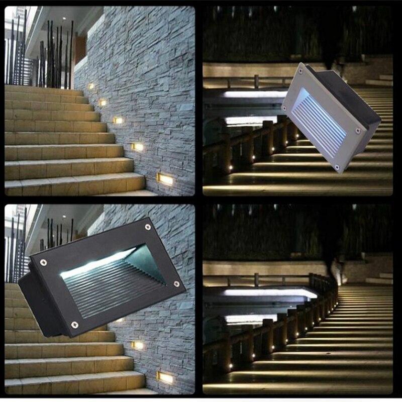 23 85 Led Lampes Souterraines 3 W Exterieur Paysage Escalier Eclairage Led Lumieres Pas A Pas Veilleuses Lampadaire Etanche Integre In Led
