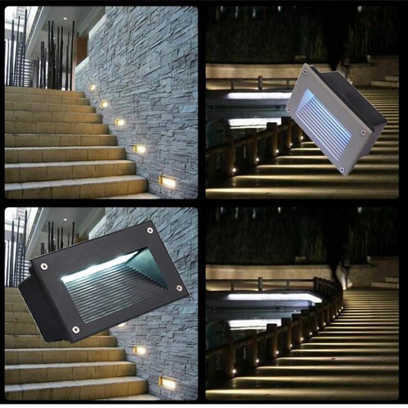Us 26 0 Led Underground Lamps 3w Outdoor Landscape Stair Lighting Step Lights Nightlights Floor Lamp Waterproof Embedded In