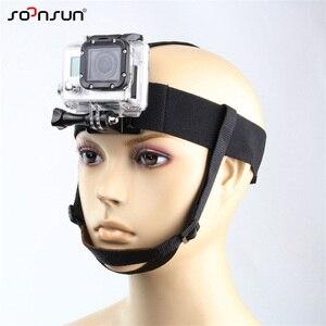 Image 3 - Крепление на голову SOONSUN, крепление на голову, ремень с подбородком для GoPro Hero 7, 6, 5, 4, 3, 2018, аксессуары для SJCAM, Xiaomi Yi