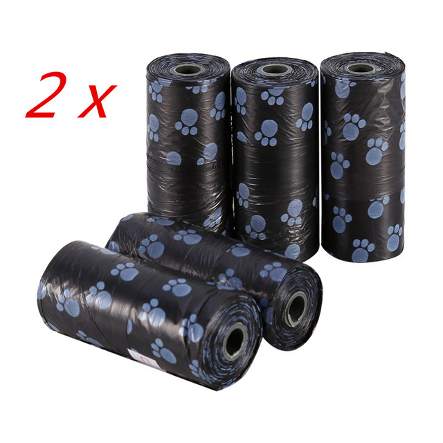 10 Rolls/150 Pcs Degradable Pet Dog Waste Poop Bag With Printing Doggy Bag Pet Waste Clean Poop Bags 4 colors 1