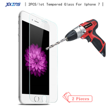 Xxins 2PCS Tempered Glass Toughened Protective film For font b Iphone b font font b 7