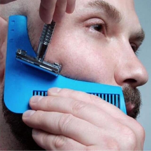 Doccia di alta qualità Salone di baffi del moustache baard Barba Rasatura rasatura per la barba di stile di figura styling barba cura pettine Strumento pennello