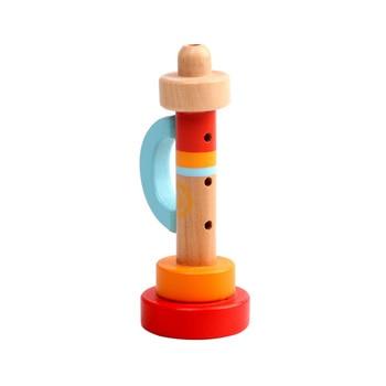Educativo Portátil Instrumento Silbato Trompeta Juguete Niños Vertical Musical Bebé Madera IWD29EH