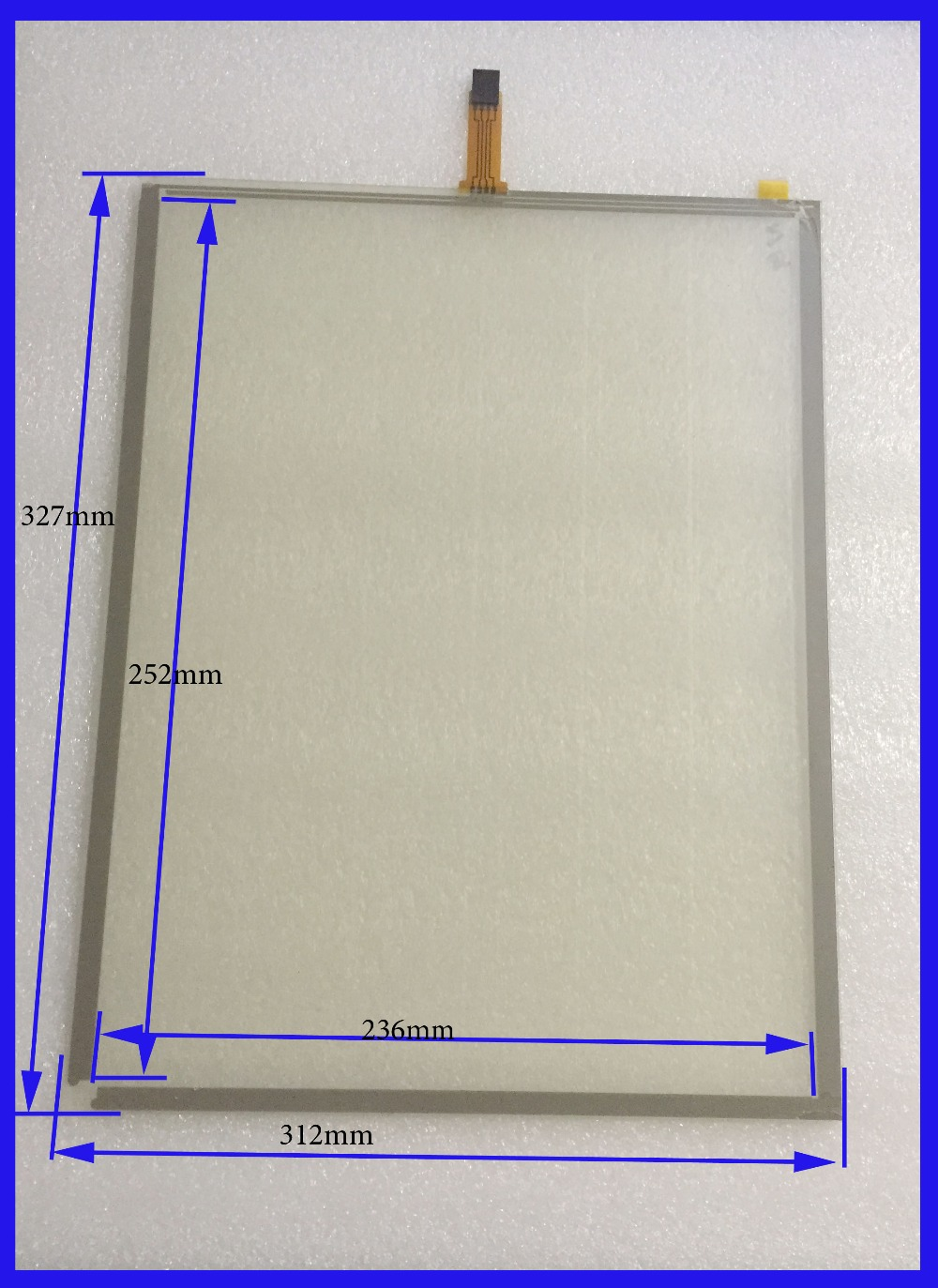 ZhiYuSun 327mm*252mm 14 Inch Touch Screen panels 4 wire resistive USB touch panel overlay kit  Free Shipping zhiyusun new 10 4 inch touch screen 239 189 for industry applications 239mm 189mm 8 lins 47f8104025 r13 commercial use