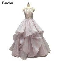 Hohe Qualität Funkelnde Hochzeitskleid 2017 Straps Schwere Kristall Perlen Ballkleid Open Back Brautkleid Vestido de Fiesta RW5