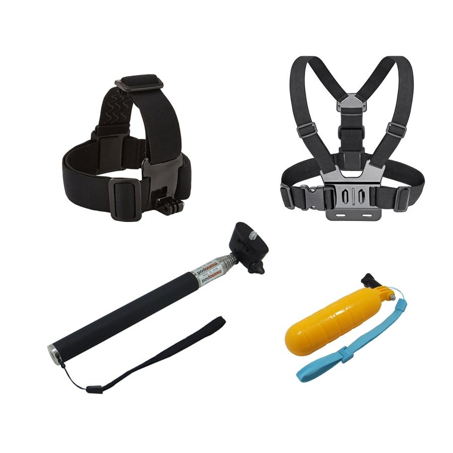 Brust + Kopf Gürtel + Bobber Schwimm + Selbst Stick, mount Für gopro hero 5 4 zubehör Set Action sport Kamera Gehen pro yi 4 karat gehen pro