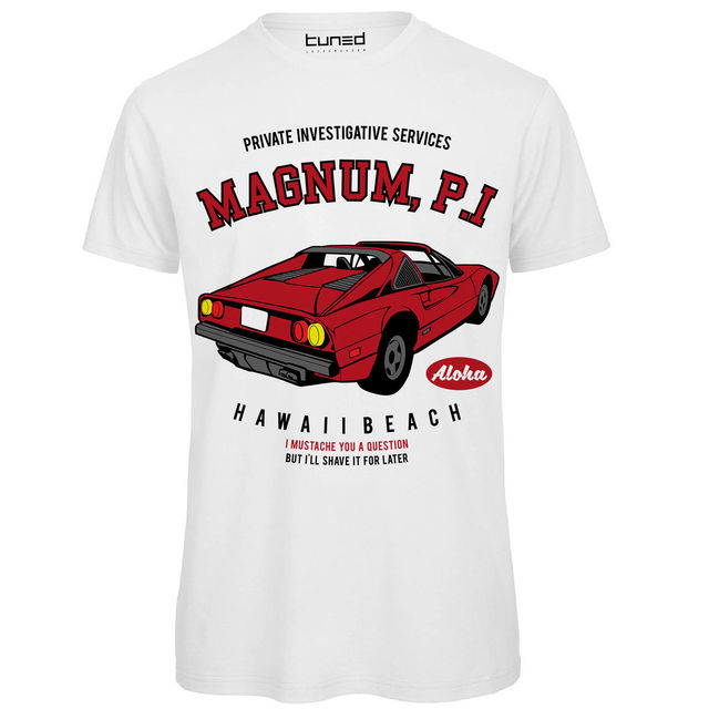 3731774331 US $13.04 13% OFF|T Shirt Divertente Uomo Maglietta Con Stampa Telefilm  Vintage Magnum PI Tuned T Shirt Fashion Top Tee Classic-in T-Shirts from  Men's ...