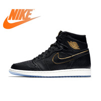 Original Authentic NIKE AIR JORDAN 1 RETRO HIGH OG Men Basketball Shoes Sneakers Sport Outdoor Comfortable Breathable 555088 031