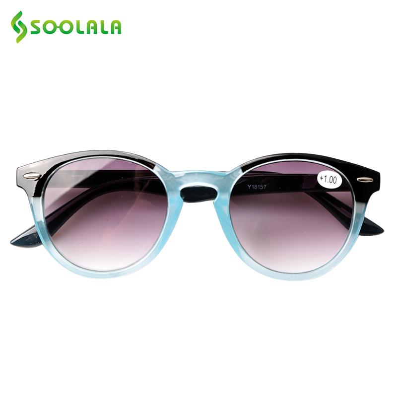 SOOLALA Sunglasses Reading Glasses Men Spring Hinge Ladies Tinted Lens Square Spring Hinged Sunglasses With Diopters +1.0 To 4.0
