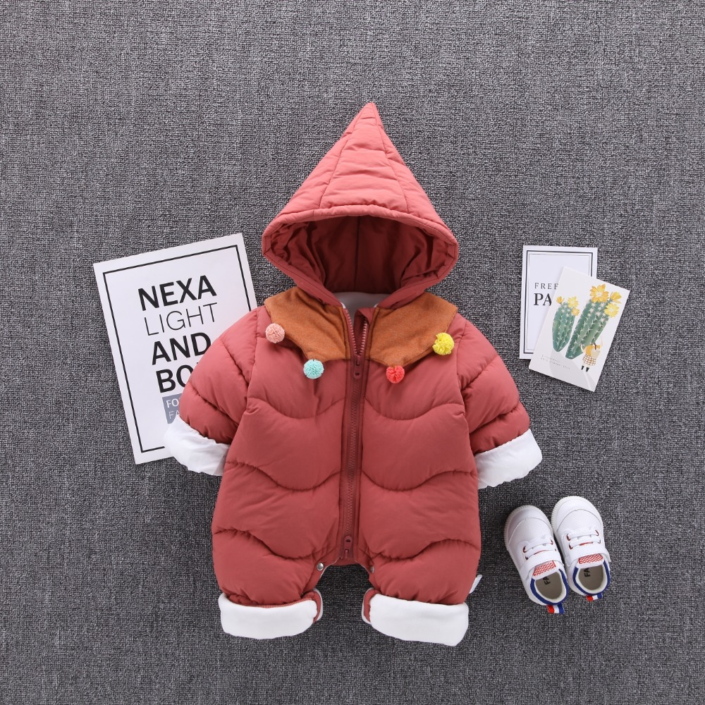Baby Jumpsuit Winter Boy Girl Clothes Newborn Infant Rompers Outwear Coat Baby Long Sleeve Romper 0-2T winter baby romper newborn boy girl costume baby clothes unisex long sleeve romper newborn jumpsuit