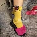 Calcetines femeninos pila calcetines modelos de encargo DIY color caramelo joya lentejuelas del agárico de cañón corto calcetines de algodón