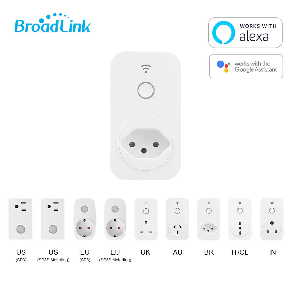 Brazilië Socket Smart WiFi Plug, BroadLink SP SP2-BR Smart Wifi Plug, Alexa & Google Home control Plug, smart Home automation