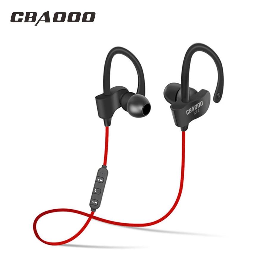 CBAOOO auricular bluetooth auricular inalámbrico bluetooth auriculares deportivos impermeable bajo con micrófono para android iPhone