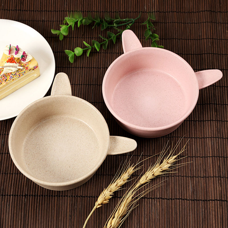 2 Sets Baby Feeding Food Tableware Dinnerware Sets Kids Dishes Eating Bowl Spoon HG99