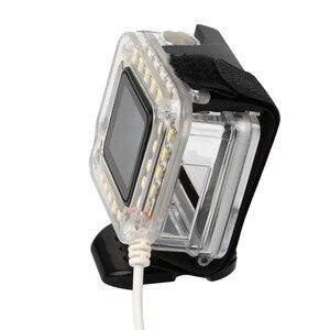 Image 2 - USB 20 LED ملء عدسة حلقة ضوء فلاش الإسكان مصباح ل GoPro بطل 4/3 +