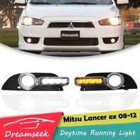 LED DRL for Mitsubishi Lancer 2008 2009 2010 2011 2012 Daytime Running Light With Turn Signal Lamp