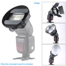 CA-SGU Universal Flash Speedlite Mount Adapter Bracket Accessories for Nikon Canon Godox Speedlight Barn Door Mini Refelctor(China)