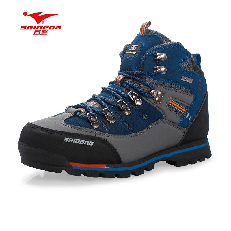 Hommes Chaussures en cuir Imperméable Chaussures de Randonnée Escalade et Chaussures De Pêche Nouveau populaire En Plein Air chaussures - 3
