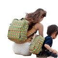 Moda Bolsa de Mamá Bebé Bolsa De Pañales de Algodón Suave Lindo Patrón de Familia A Juego Bolsas de Hombro Bolso de La Madre del Padre-niño Mochila
