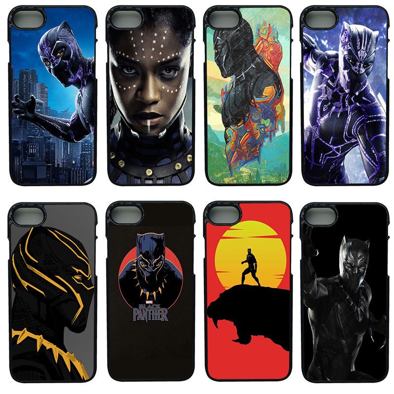 Marvel Comics Black Panther Cell Phone Cases PC Hard Plastic Cover for iphone 8 7 6 6S PLUS X 5S 5C 5 SE iPod Touch 4 5 6 Case