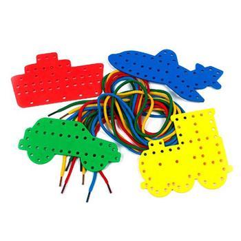 4 Uds multifunción no tóxico elegante práctico exquisito transporte Tabla de enhebrado juguetes para niños hogar Kindergaten