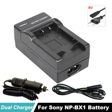 NP-BX1 Battery EU Cable Charger for Sony Camera HDR-AS100v AS30v HX50 DSC-RX100 HX400 WX350 DSC RX1 RX100 RX100iii M3 M2 RX1R